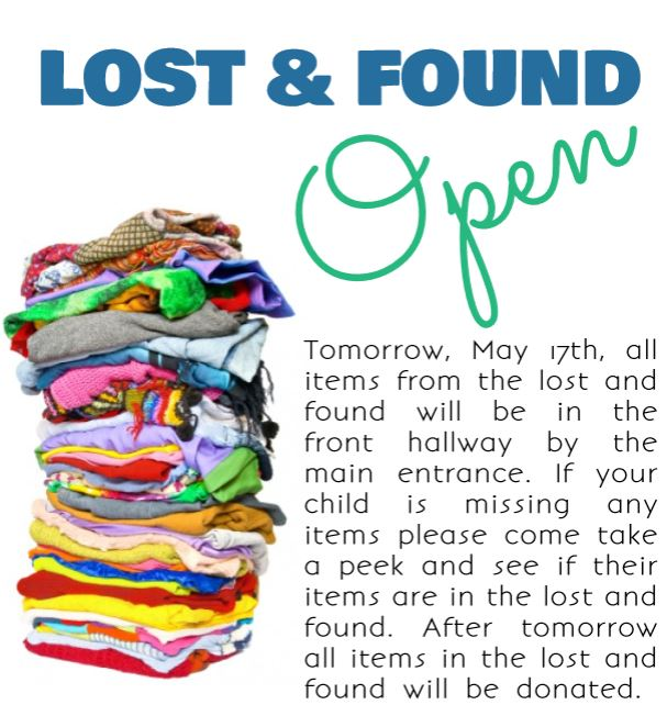 LOST AND FOUND FLYER 05 16 19