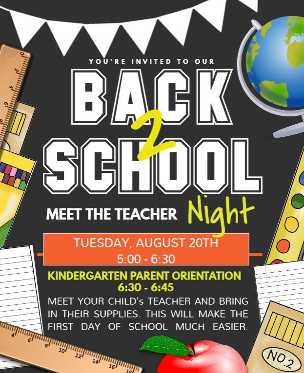 MEET THE TEACHER NIGHT FLYER 19 20
