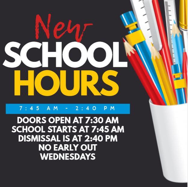 NEW SCHOOL HOURS FLYER 2019 2020