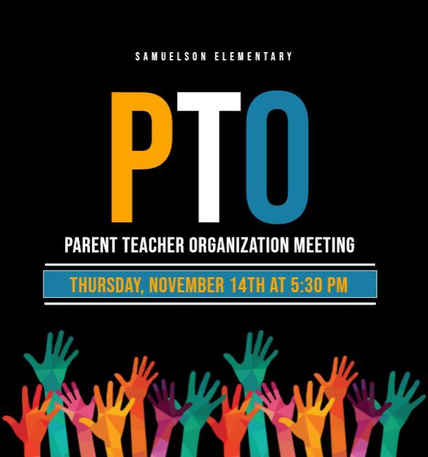NOVEMBER 14TH PTO MEETING FLYER