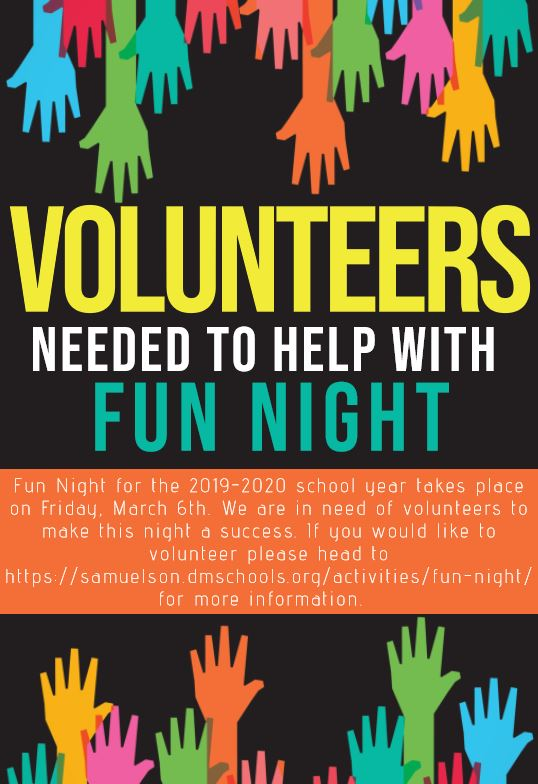 FUN NIGHT VOLUNTEER FLYER