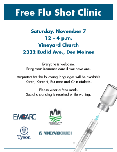 FLU SHOT CLINIC FLYER