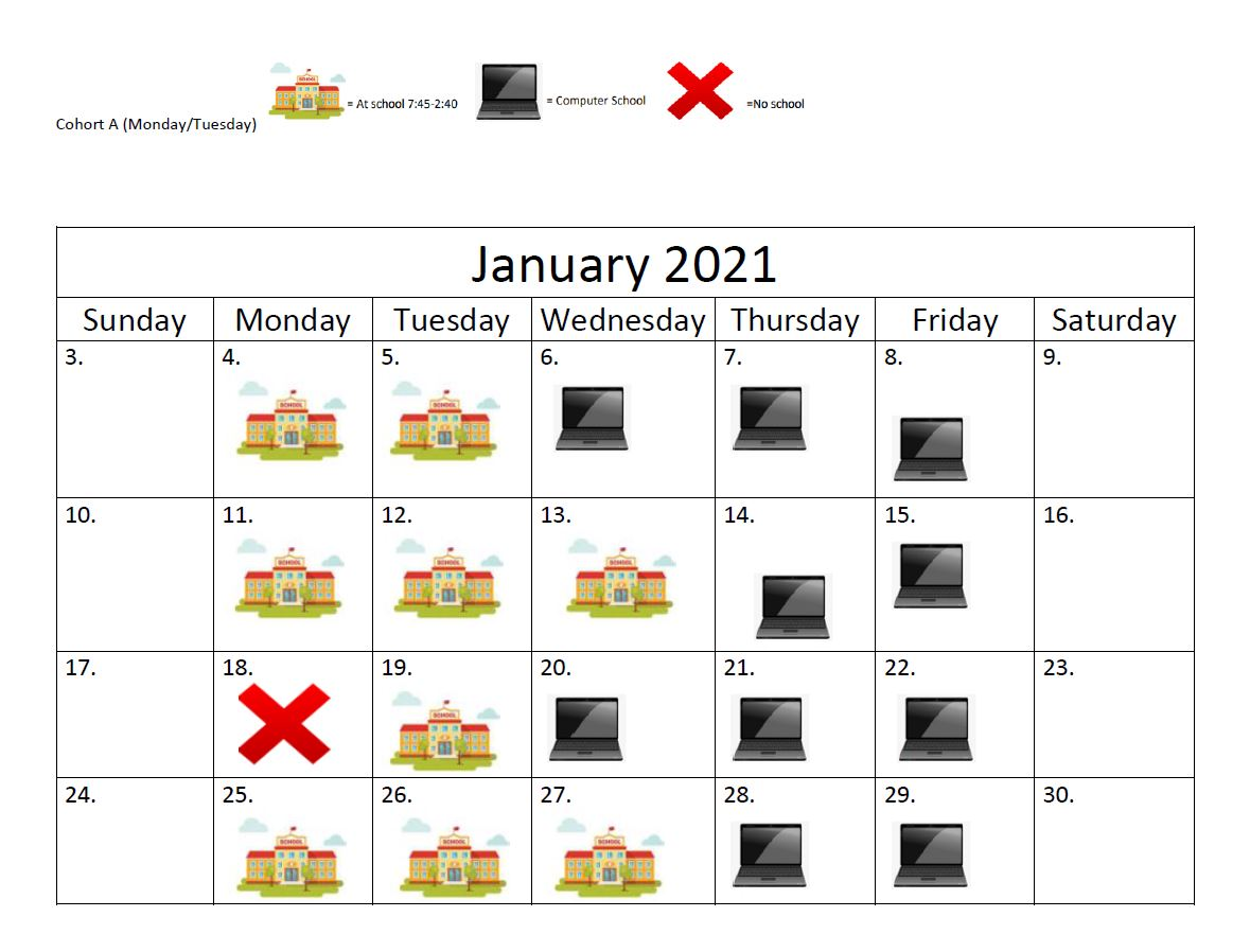 JAN COHORT A PIC SCHEDULE