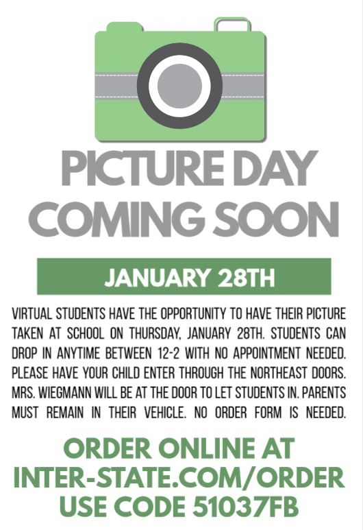 VIRTUAL STUDENT PICTURE DAY FLYER