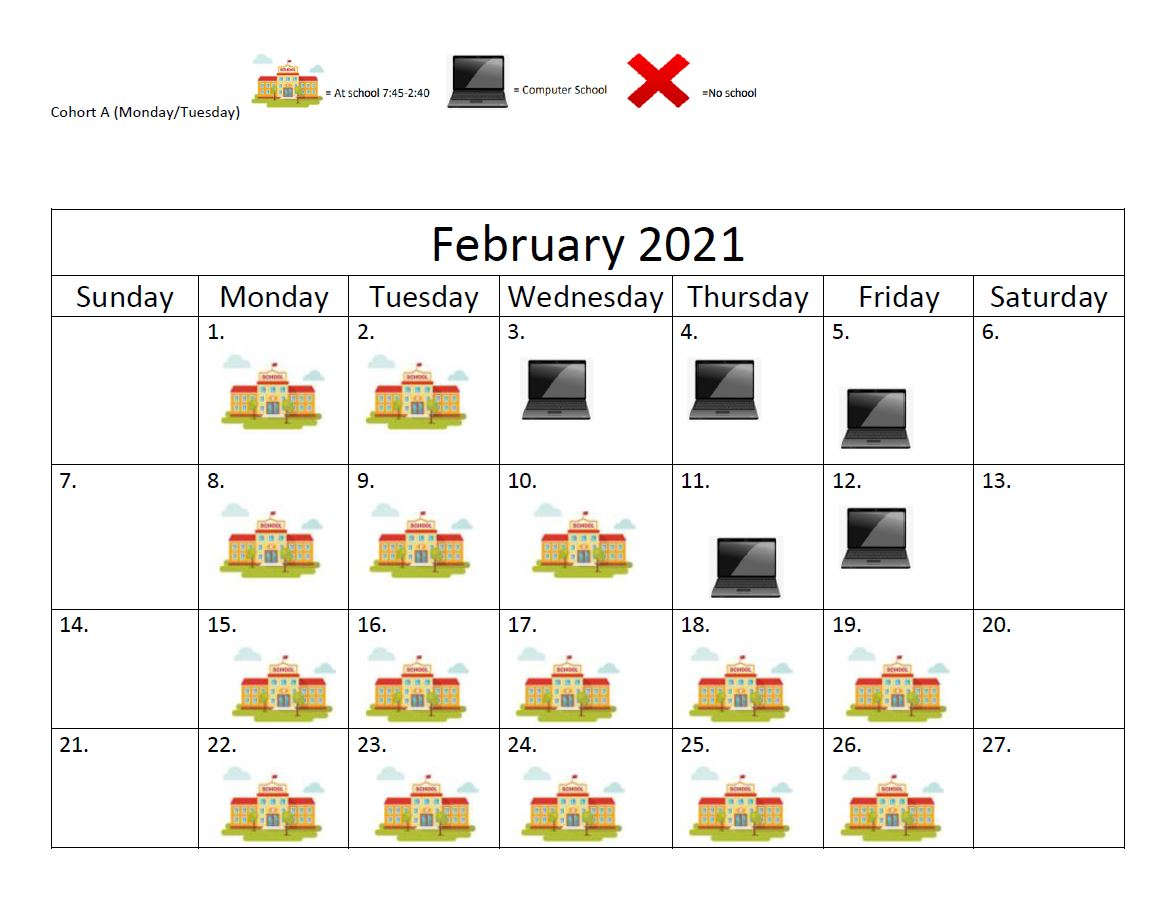 FEB COHORT A PIC SCHED USE