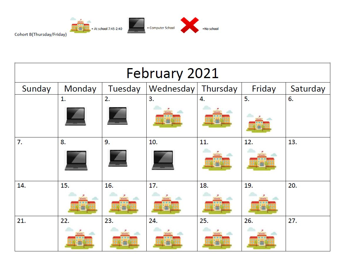 FEB COHORT B PIC SCHED USE