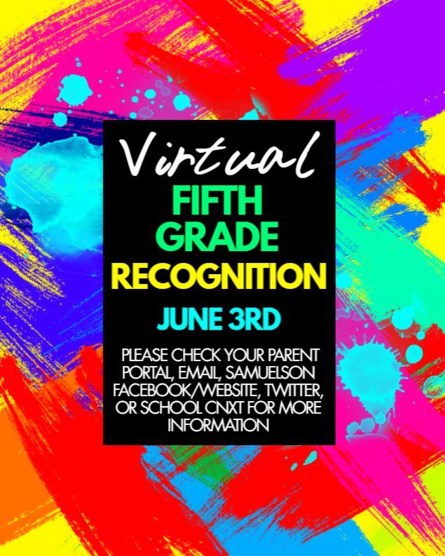 VIRTUAL 5TH GRADE RECOGNITION