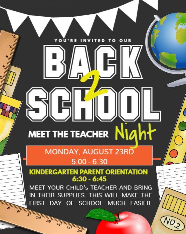 MEET THE TEACHER NIGHT FLYER 21 22